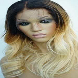 Beautiful Ombre Blonde Human Hair Wig